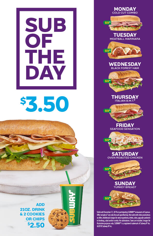 Sub of the Day: $3.50