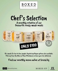 Monthly Chef's Selection: $100